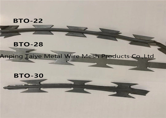 Twisted Strand Concertina Razor Barbed Wire Fencing Barbed Wire Mesh